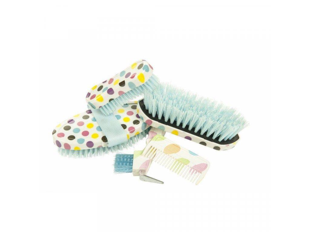 Pětidílný set čištění v plastovém obalu HKM modrý