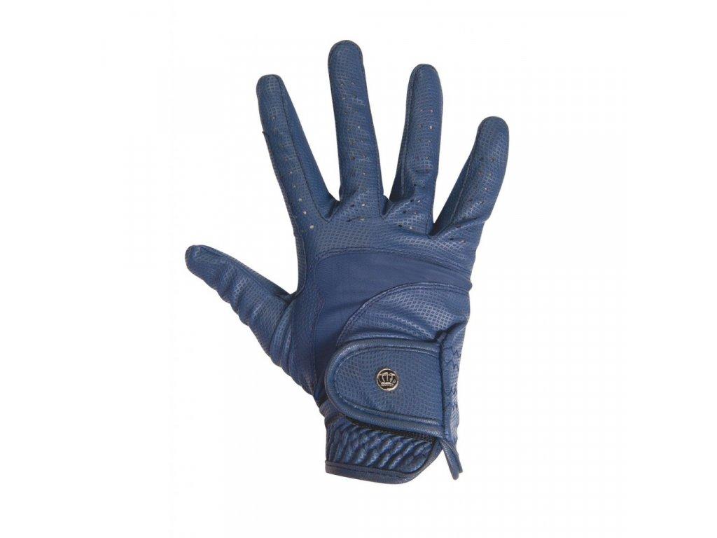 Jezdecké rukavice Elemento HKM modré