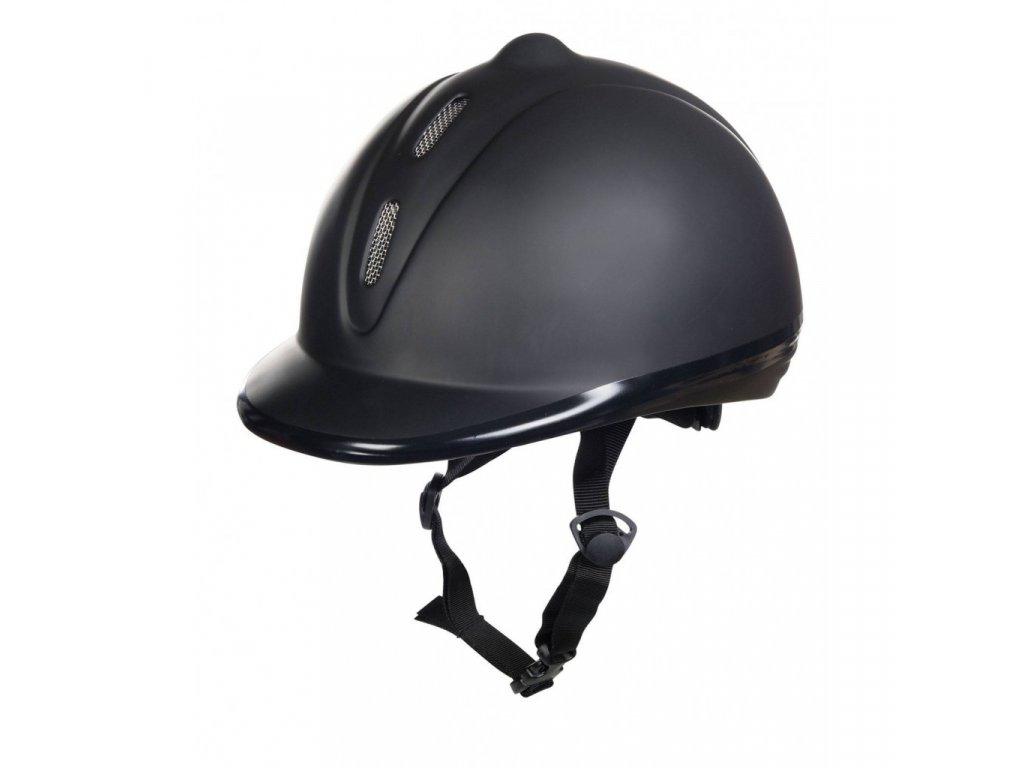 Jezdecká helma Hladký plast HKM