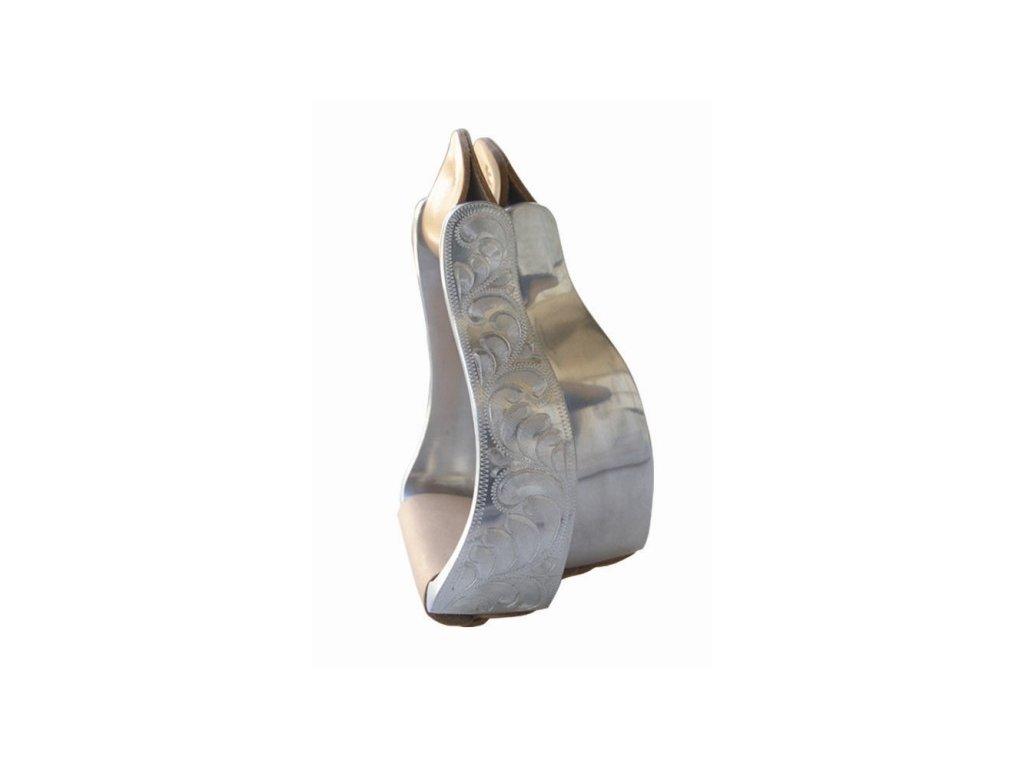 1306499 1 Třmeny westernové aluminiun zdobené pár