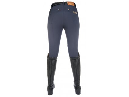 HKM Lauria Garrelli Knee Patch Breeches in Navy Rear 8925 6900 4