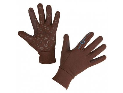jezdecké rukavice inari hnědé