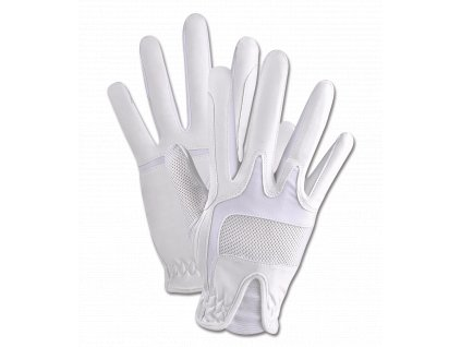 elt bílé jezdecké rukavice