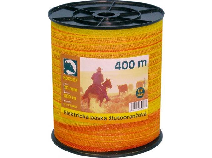 Páska žlutá 20mm 400m
