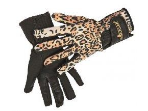Jezdecké rukavice Animal, tygrované, velikost S