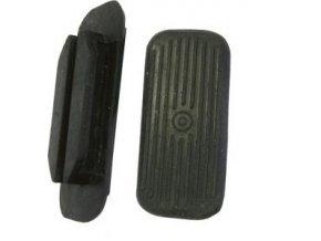 Gumové nášlapky černé 12cm