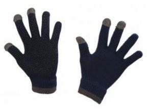 Jezdecké rukavice MagicTouch, univerzální, modré a černé