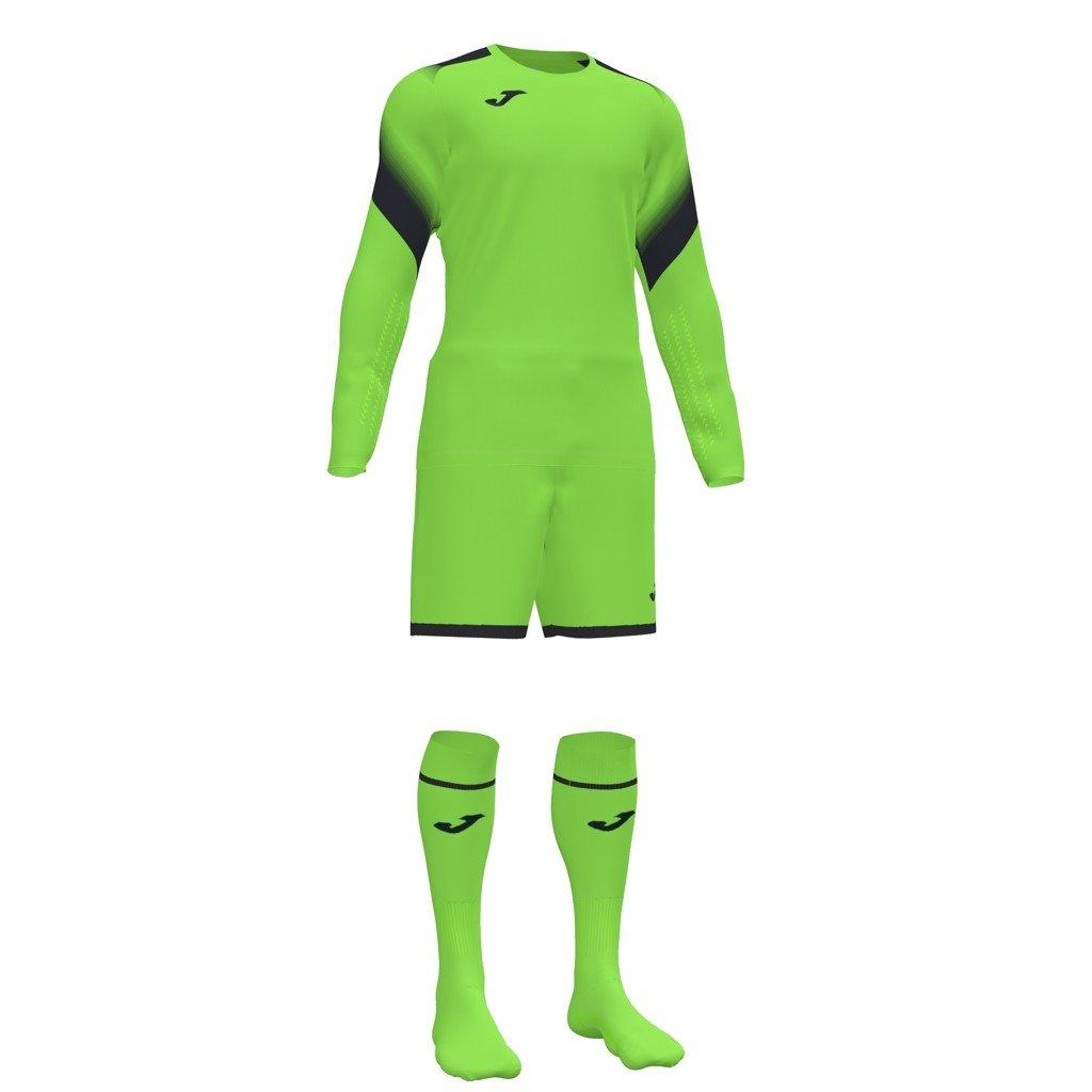 Brankářský dres + trenýrky + štulpny Joma Zamora II - fluo zelená