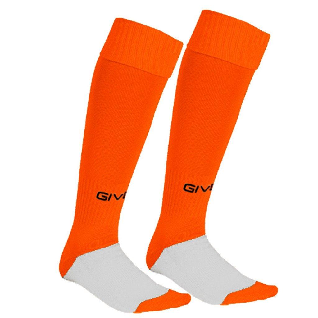 calza calcio orange fluo