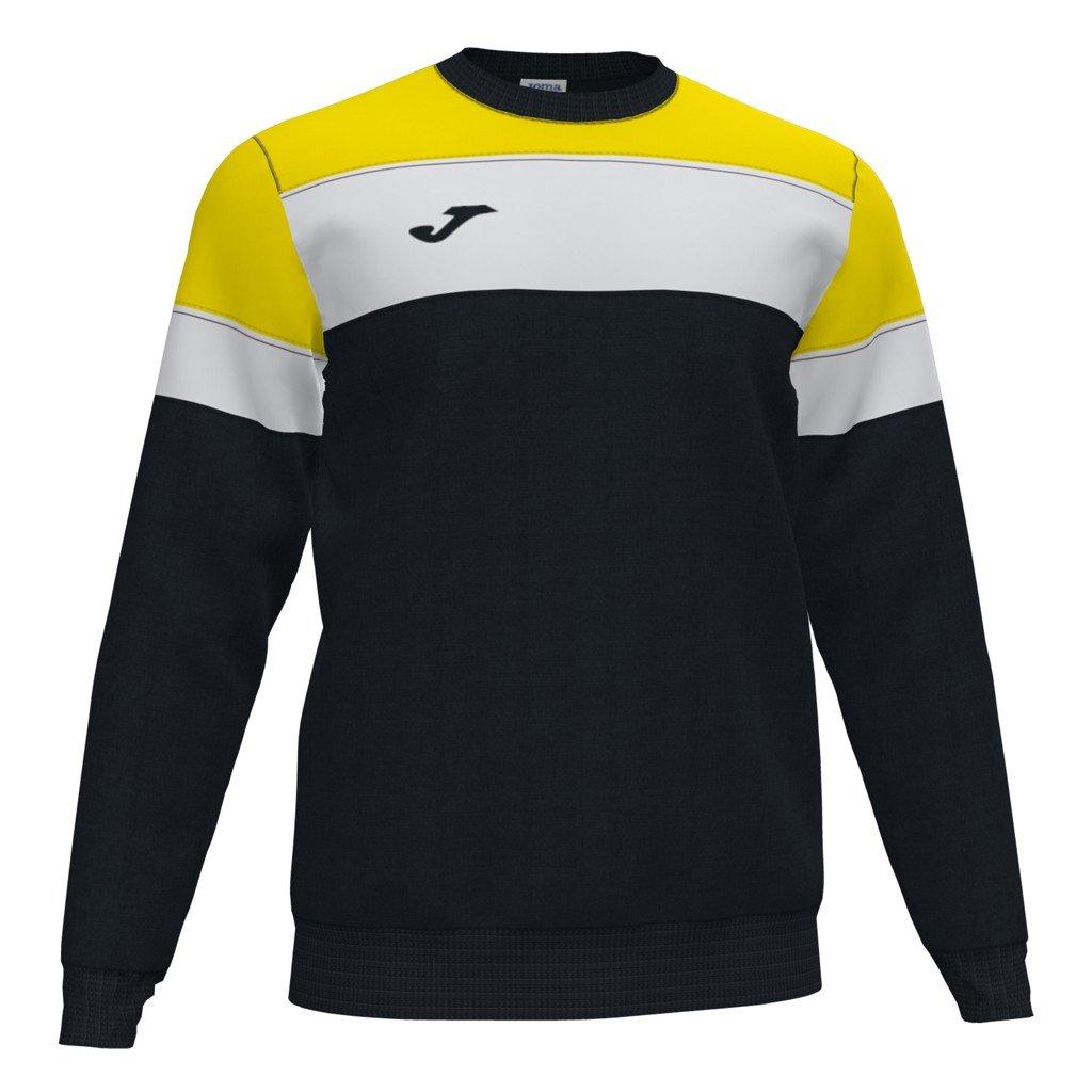 Sportovní mikina Joma Crew IV - černá/žlutá