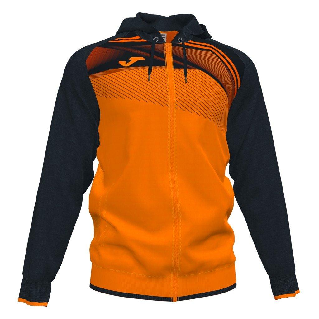 Sportovní mikina se zipem Joma Supernova II - oranžová/černá