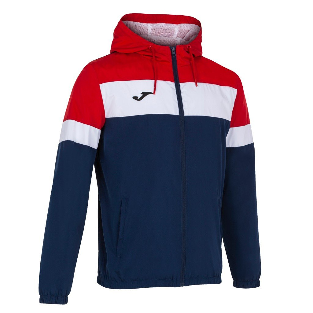 Sportovní bunda Joma Crew IV - tmavě modrá/červená
