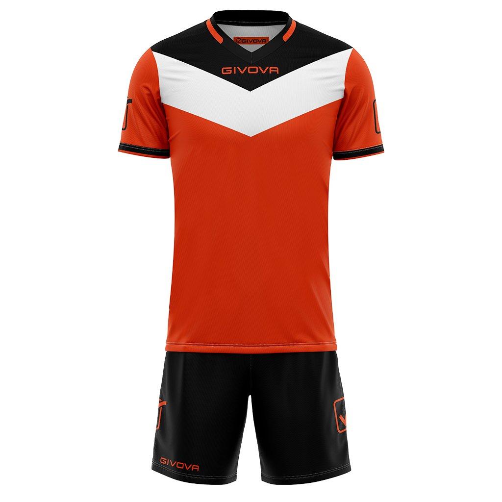 Sportovní dres + trenýrky Givova Campo fluo - fluo oranžová/černá