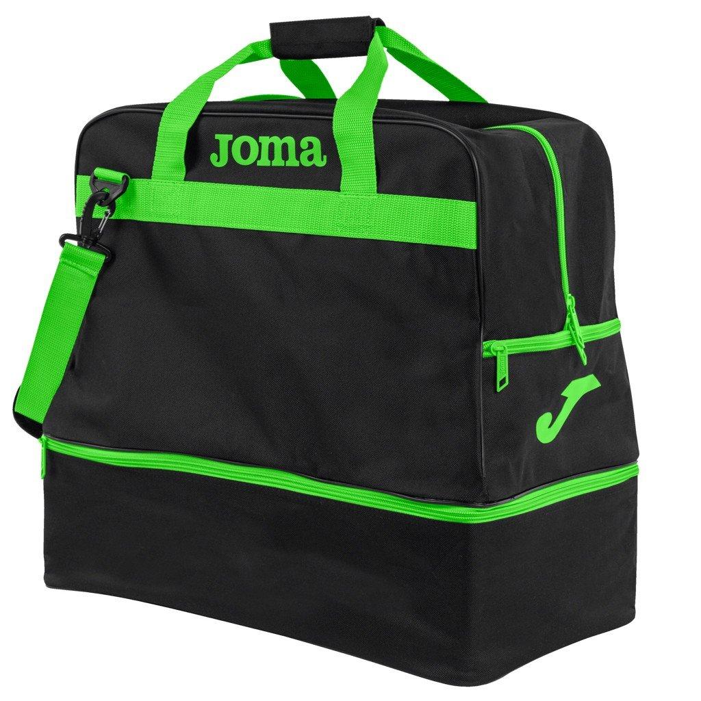 Sportovní taška Joma Training III - černá/fluo zelená
