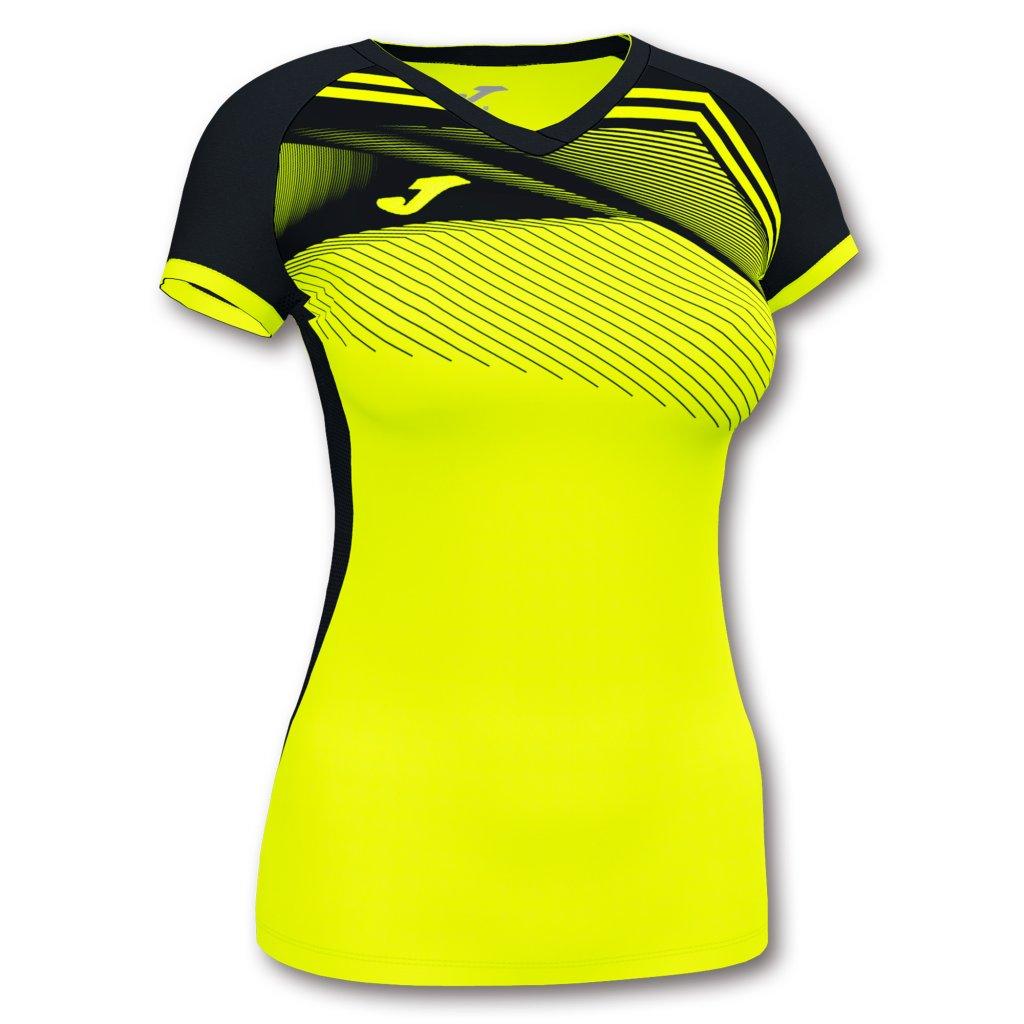 Dámský sportovní dres Joma Supernova II - fluo žlutá/černá