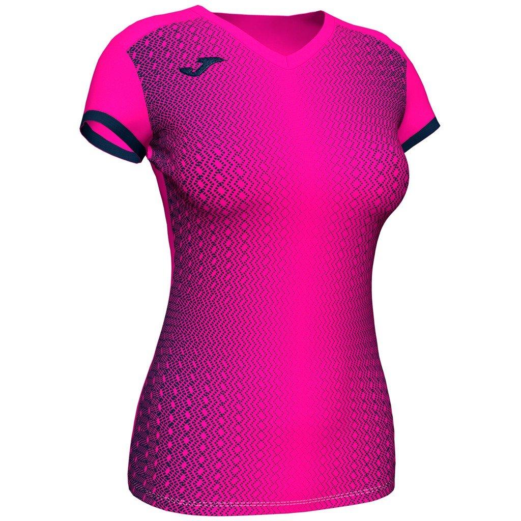 Dámský sportovní dres Joma Supernova - fluo růžová/tmavě modrá