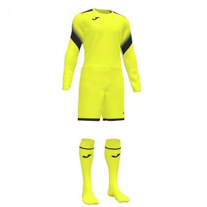 Brankářský dres + trenýrky + štulpny Joma Zamora II - fluo žlutá