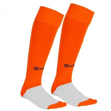 calza calcio orange fluo