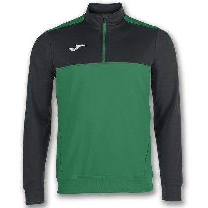 Sportovní mikina s 1/2 zipem Joma Winner - zelená/černá
