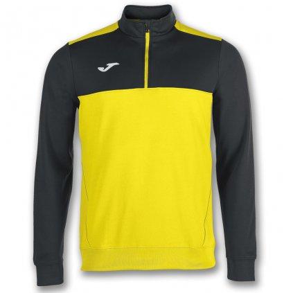 Sportovní mikina s 1/2 zipem Joma Winner - žlutá/černá