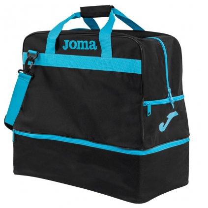 Sportovní taška Joma Training III - černá/fluo tyrkysová