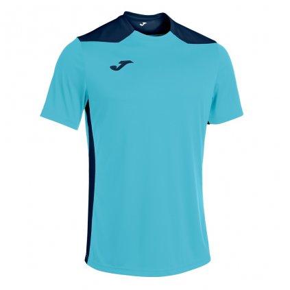 Sportovní dres Joma Championship VI - fluo tyrkysová/tmavě modrá