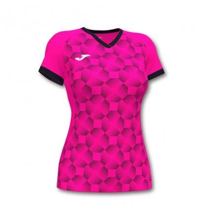 Dámský sportovní dres Joma Supernova III - fluo růžová/černá