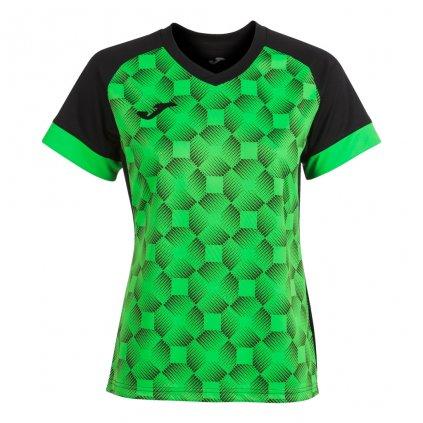 Dámský sportovní dres Joma Supernova III - černá/fluo zelená