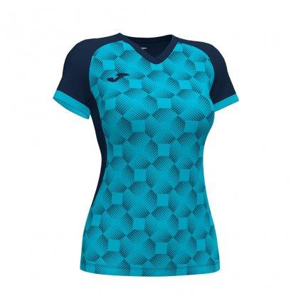 Dámský sportovní dres Joma Supernova III - tmavě modrá/fluo tyrkysová