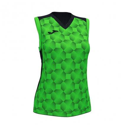 Dámský sportovní dres Joma Supernova III B/R - černá/fluo zelená