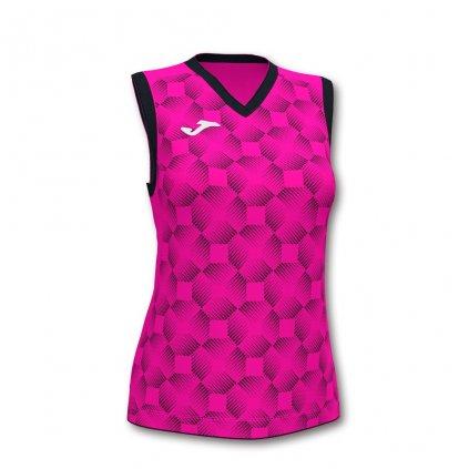 Dámský sportovní dres Joma Supernova III B/R - fluo růžová/černá