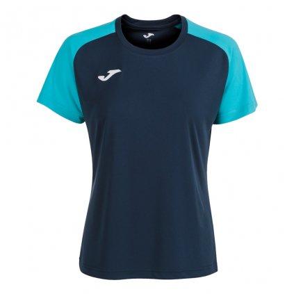 Dámský sportovní dres Joma Academy IV - tmavě modrá/fluo tyrkysová