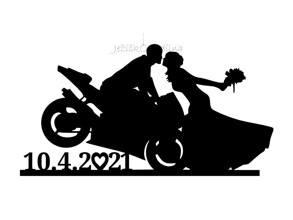 Svatební pár motorkáři 2 (3)