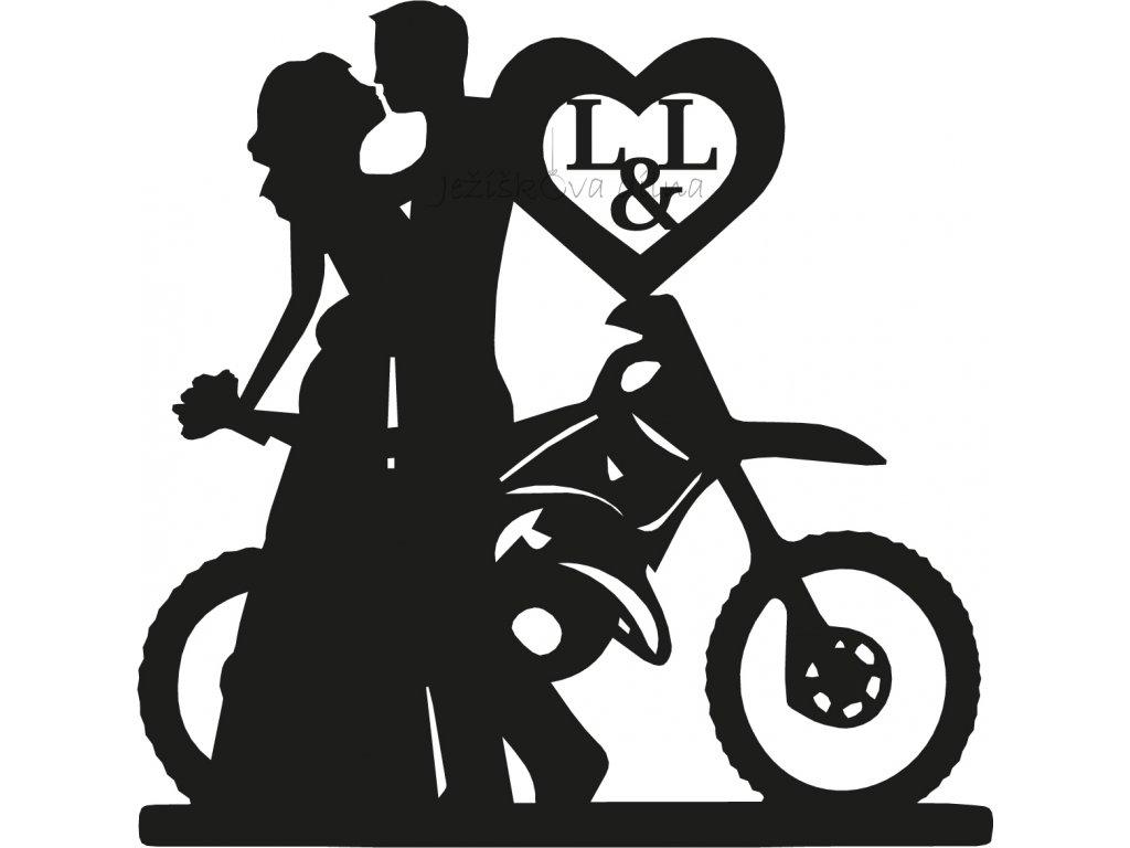 Svatební pár motorkáři (1)