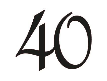 Číslice 40 spojená