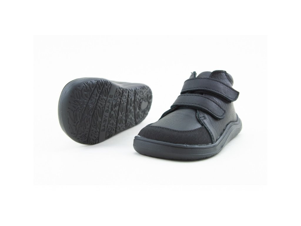 BABY BARE SHOES FEBO FALL ALL BLACK (Velikost 32)