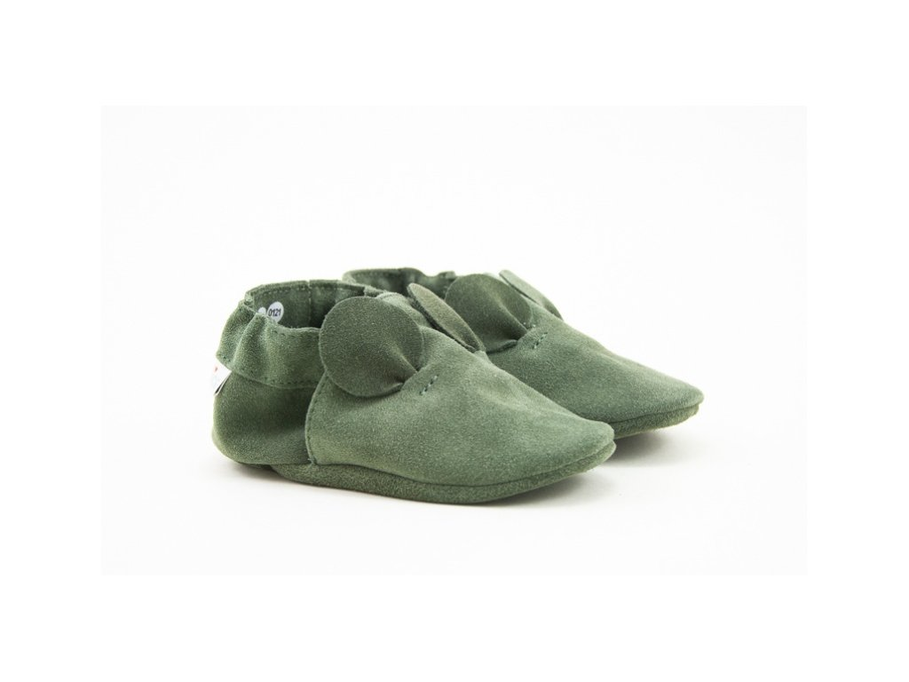 BABICE CAPAČKY SOFT SOLE MOUSE GREEN (Velikost 26)