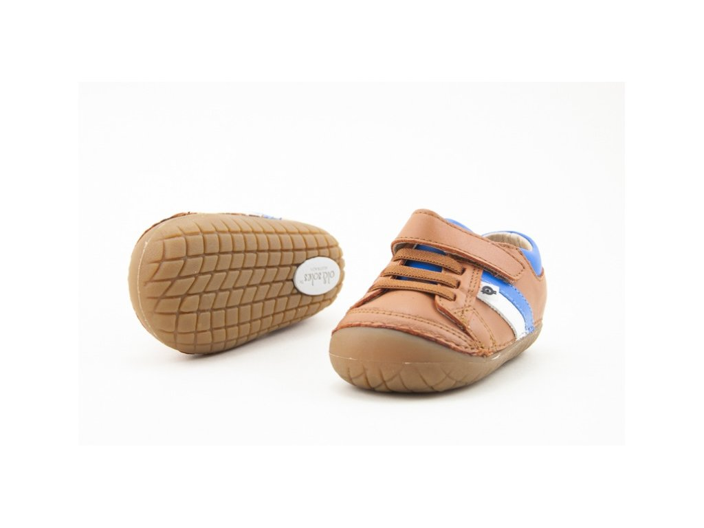 OLD SOLES SHIELD PAVE TAN NEON BLUE (Velikost 25)