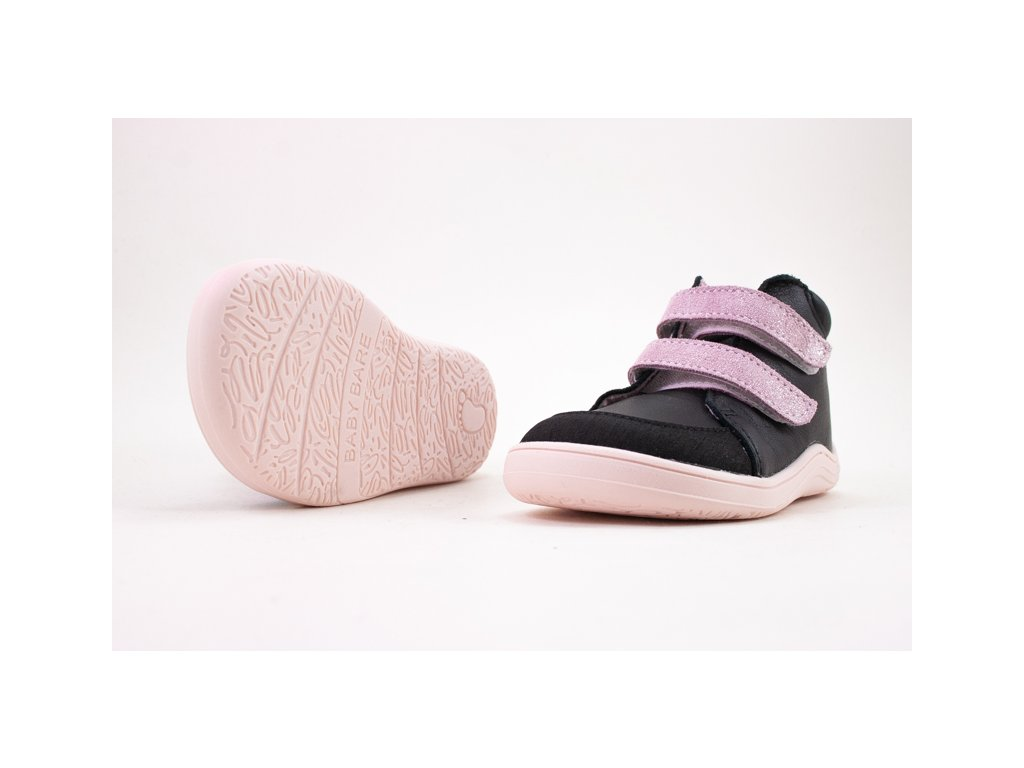 BABY BARE SHOES FEBO FALL BLACK/PINK