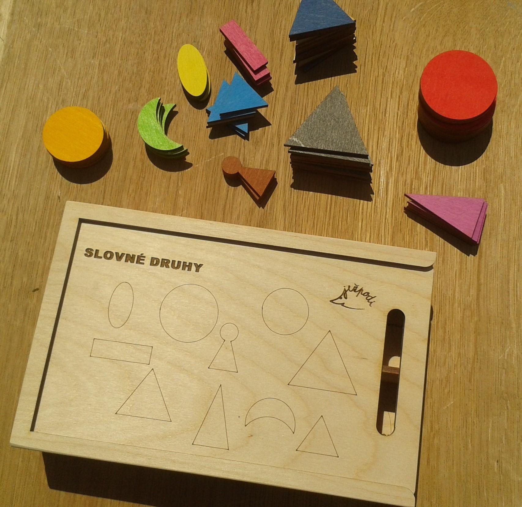 Montessori slovné druhy