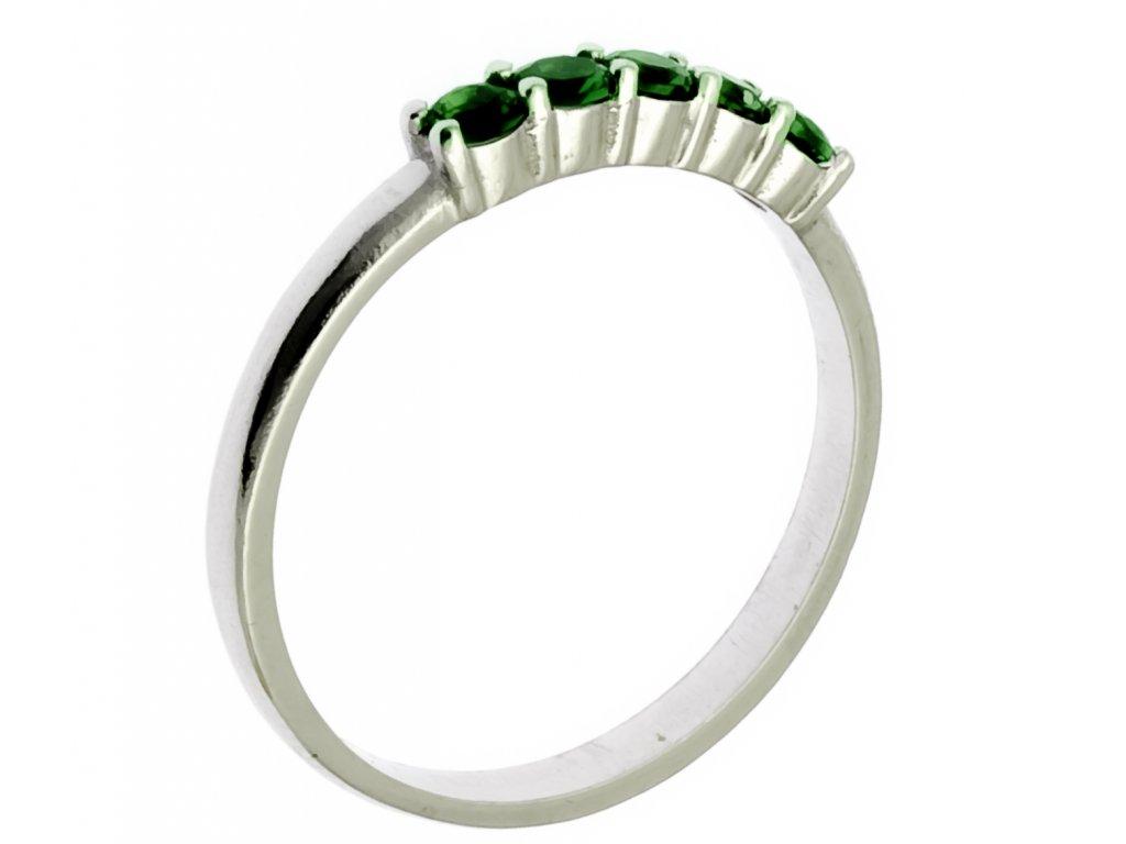 Prsten z bílého zlata G873