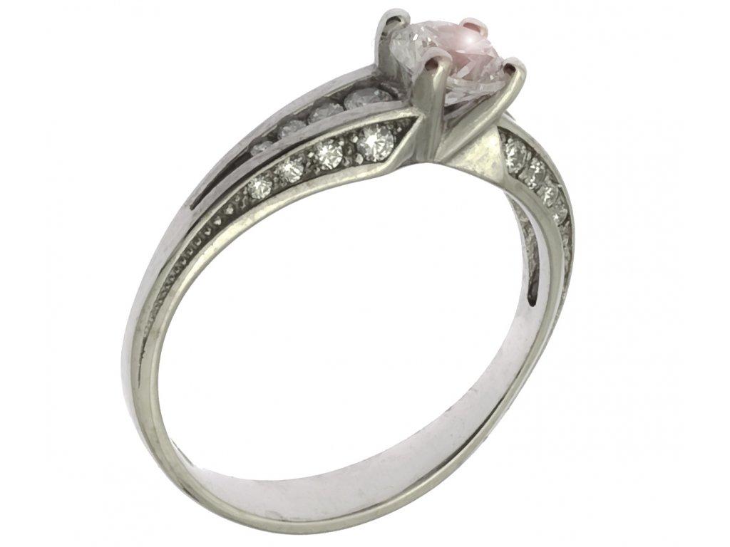 Prsten z bílého zlata G670
