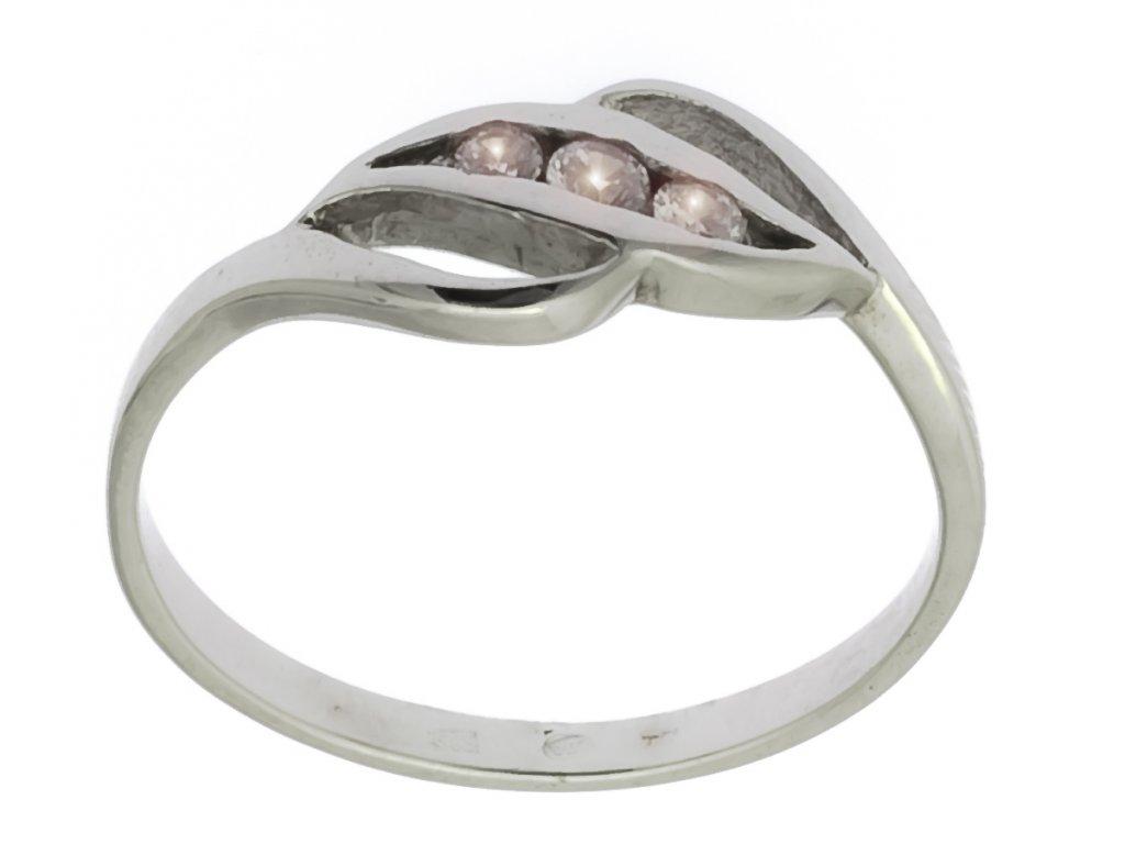 Prsten z bílého zlata G688