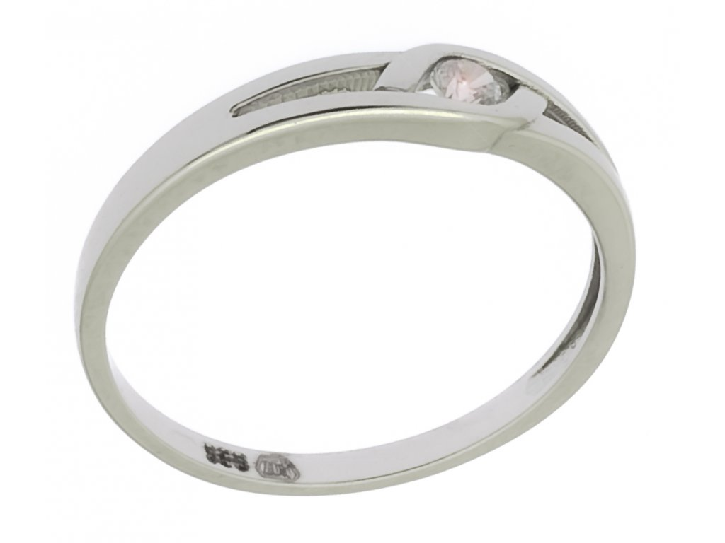 Prsten z bílého zlata G897