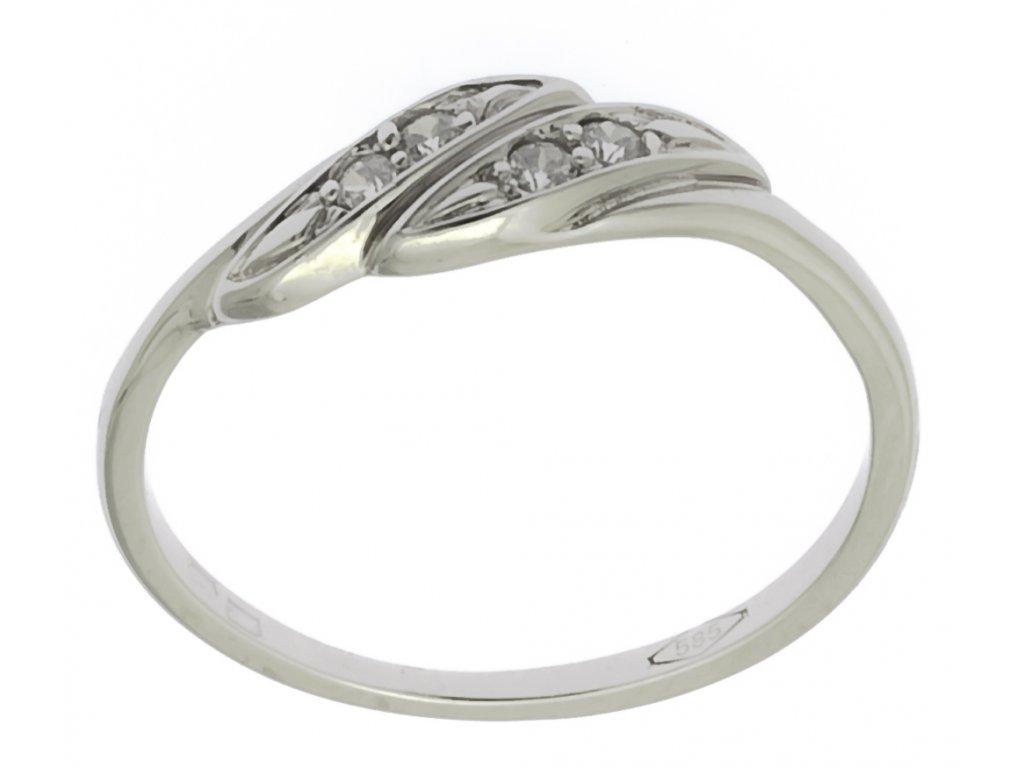 Prsten z bílého zlata G895