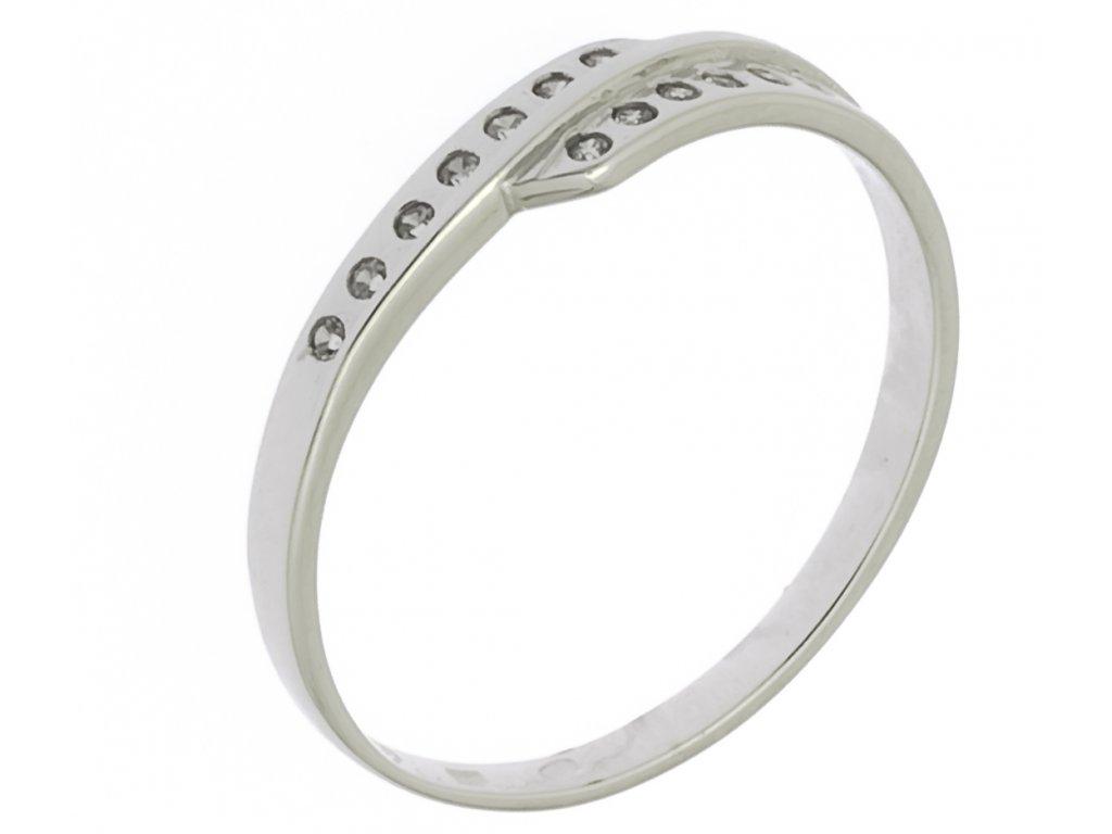 Prsten z bílého zlata G239