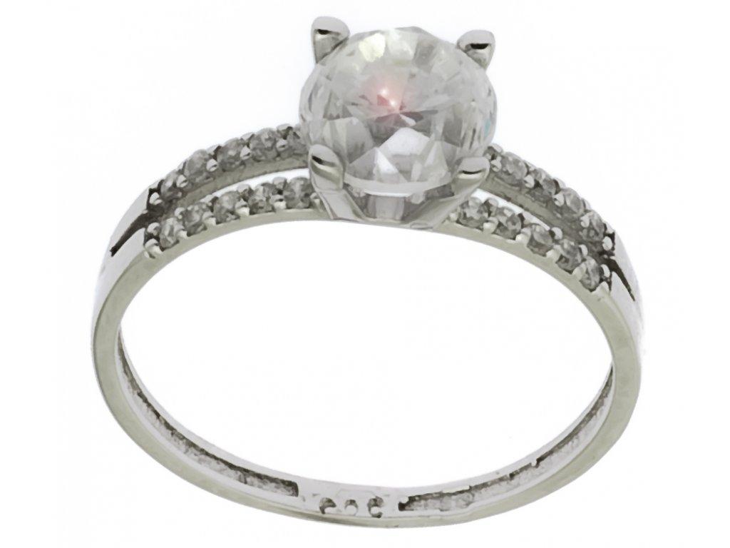 Prsten z bílého zlata G164