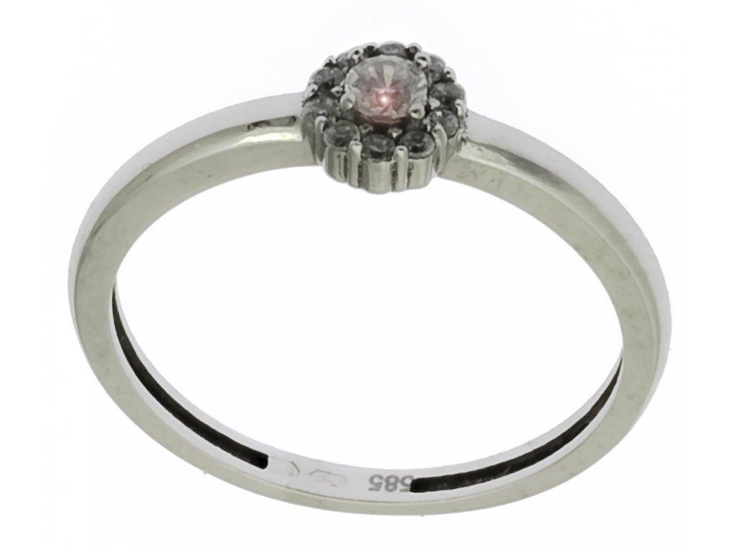 Prsten z bílého zlata G776