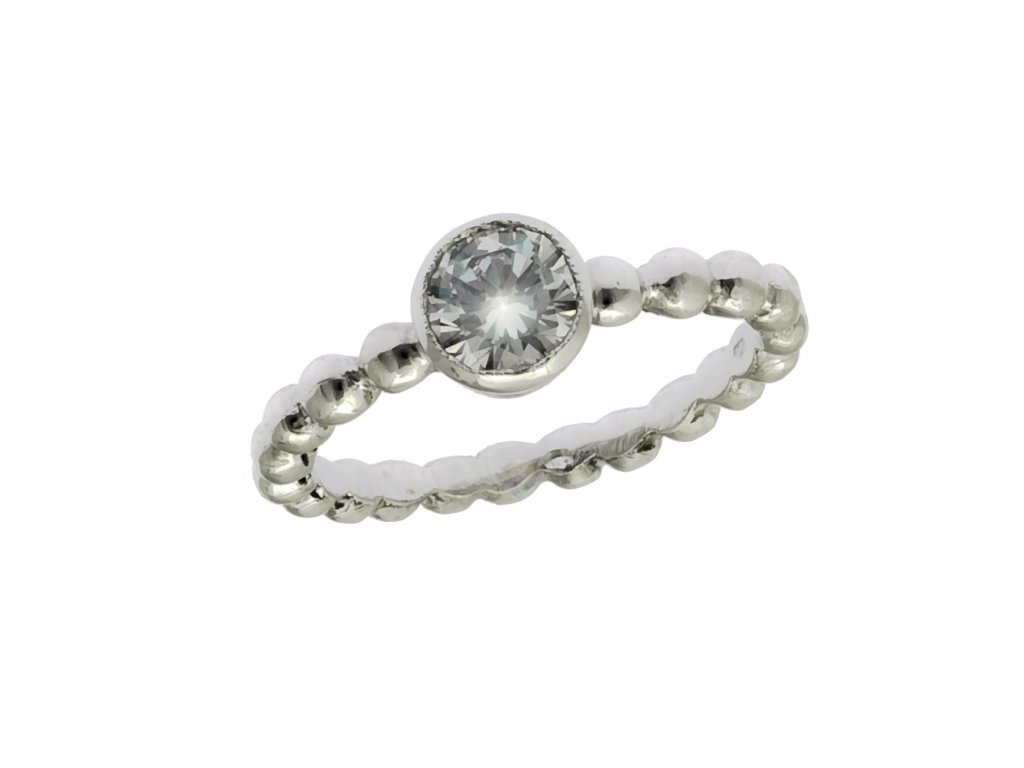 Prsten z bílého zlata G732
