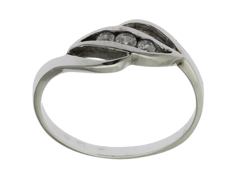 Prsten z bílého zlata G690